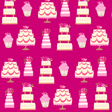 Wedding Cake fabric by thepinkhome on Spoonflower - custom fabric