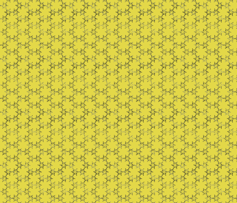 Yellow Hand-drawn K Pattern fabric by leethal on Spoonflower - custom fabric