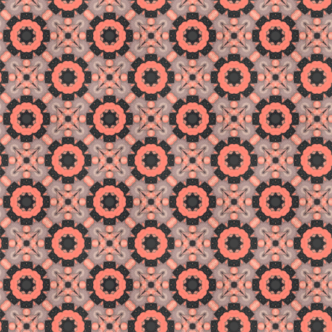 Coral Kaleidoscope fabric by whimsydesigns on Spoonflower - custom fabric