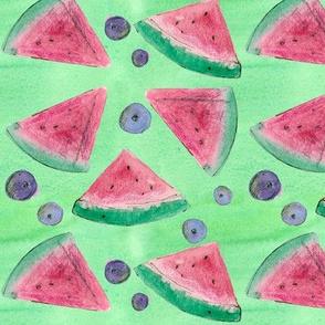 Watermelon Blueberry Green