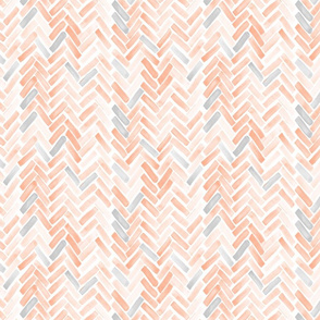 pale blush gray herringbone