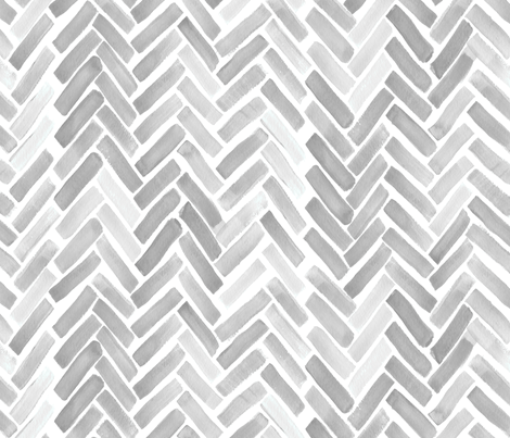 gray watercolor herringbone fabric by mrshervi on Spoonflower - custom fabric