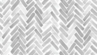 gray watercolor herringbone