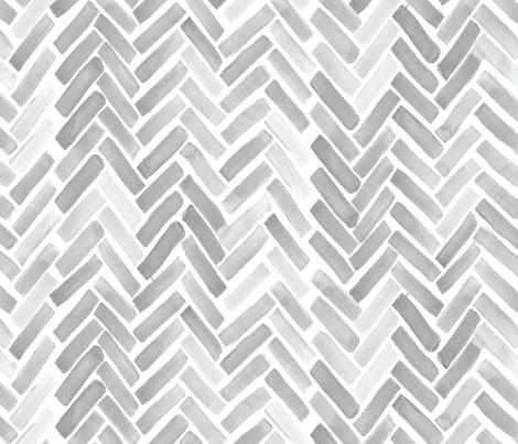 gray watercolor herringbone fabric by mrshervi on Spoonflower - custom fabric