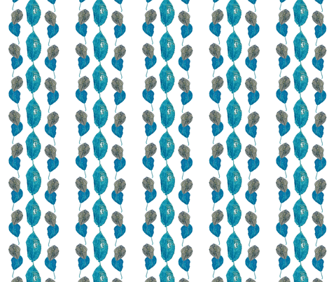 Midnight Leaves fabric by hleemessina on Spoonflower - custom fabric