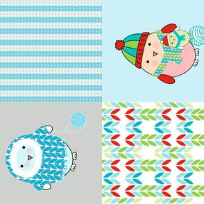 Knitty Bitty Bird Pillows