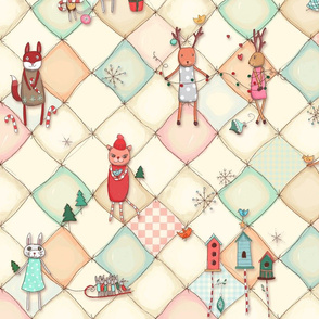 Animal Holiday Quilt