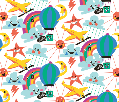 Happy Sky fabric by domesticcowboy on Spoonflower - custom fabric