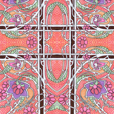 Aunt Matilda's Underwear Drawer Lining  fabric by edsel2084 on Spoonflower - custom fabric