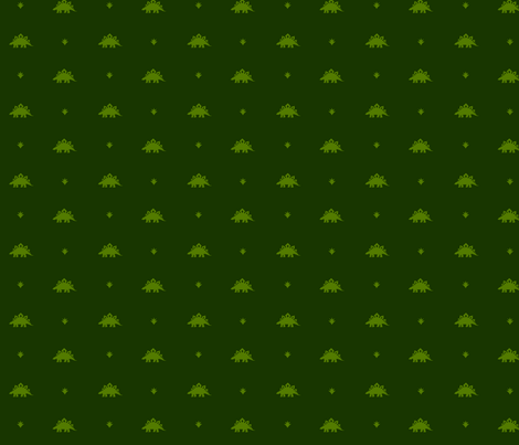 Stegosaurus Coordinate - Green fabric by andreaalice on Spoonflower - custom fabric