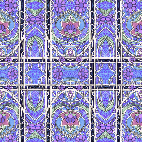 Do the Flowering Victorian Twist fabric by edsel2084 on Spoonflower - custom fabric