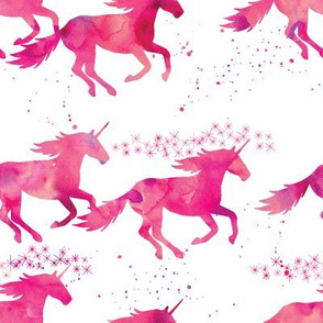 watercolor unicorns || pink
