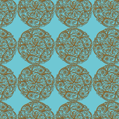 Doilies (Blue background)