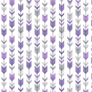 fletching arrows (small scale) || grey and purple