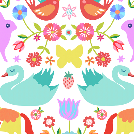 Forest Folk fabric by elephantandrose on Spoonflower - custom fabric