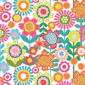 Flower Power - White Background