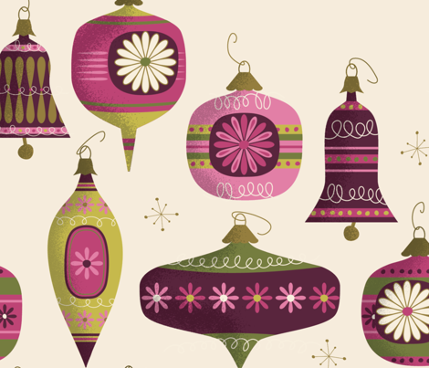 Retro Christmas Balls and Bells no.2