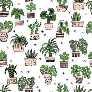 houseplants // plant cactus cacti illustration plant tree pots plant pots