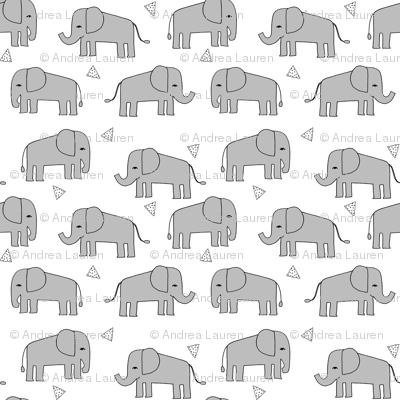 elephant // grey and mint kids nursery baby grey baby print