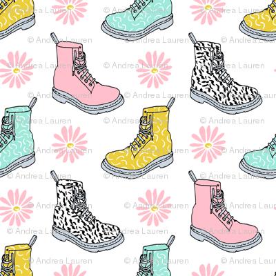 90s shoes // shoes boots fashion kids pastel daisies throwback retro nostalgia