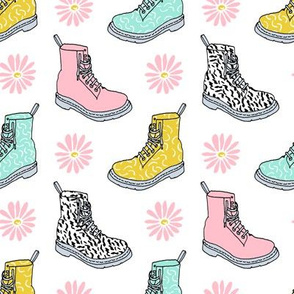 90s shoes // shoes boots fashion kids pastel daisies throwback retro nostalgia