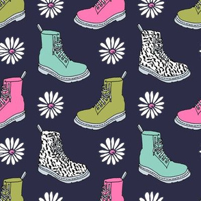 90s shoes // boots shoes fashion daisies retro throwback 90s fashion kids girls sweet pink and mint shoes