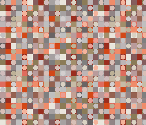March Landscape - Checkers fabric by coloursoffrance on Spoonflower - custom fabric