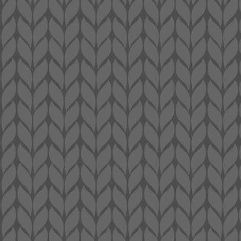 Fallknit (chunky) - grey fabric by fabric_happiness on Spoonflower - custom fabric