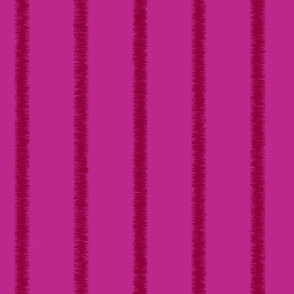 Fringed, tone on tone, magenta stripe, lengthwise
