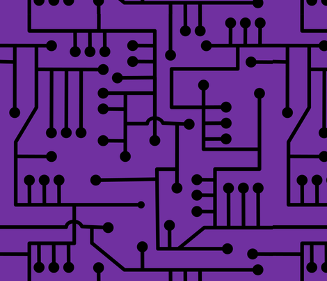 Circuits 2017 - Purple fabric by lowa84 on Spoonflower - custom fabric