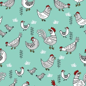 chickens // mint chicken bird backyard farm farmyard homestead egg chicken coop fabric