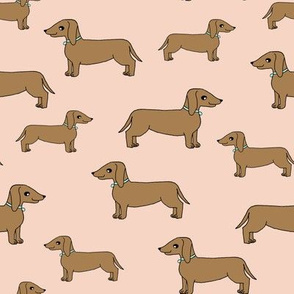 dachshund // doxie blush cute dog sweet pet dog fabric dogs pets cute dog dog design