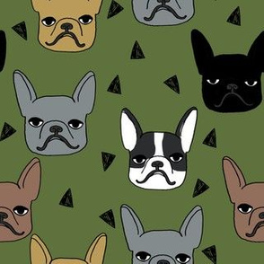 frenchie // french bulldog dog breed fabric dog dogs cute dog fabric dog design