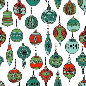 xmas ornaments // christmas ornament holiday xmas vintage red and green christmas holiday fabric