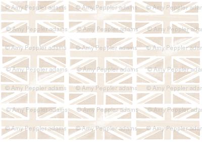 Jubilee Jack (Custom Cream)    Union Jack United Kingdom flag England London royalty Britain British queen patriotic