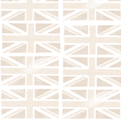 Jubilee Jack (Cream) || Union Jack United Kingdom flag England London royalty Britain British queen patriotic
