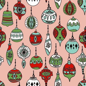 christmas ornament // christmas ornaments xmas holiday ornaments vintage hand-drawn illustration christmas