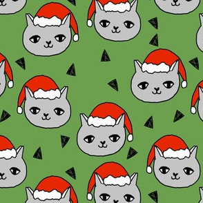christmas cat // red and green christmas fabric, cute cat, cats, christmas, xmas, holiday, andrea lauren