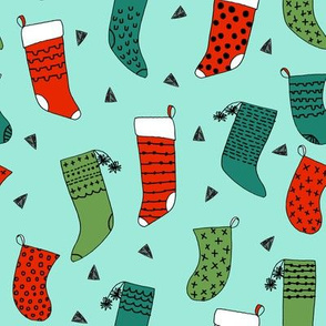 stocking // stockings christmas christmas fabric, cute christmas, christmas print, red and green, mint, christmas, xmas, holiday, andrea lauren