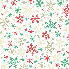 Snowfall (Red and Green)