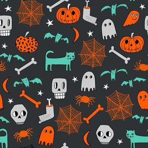 halloween // halloween fabric skull ghost spider web shots cat creepy scary halloween fabric