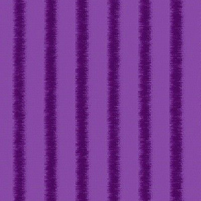 Fringed, tone on tone, purple stripe, lengthwise