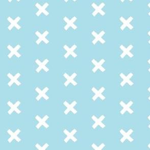 Get crossed! - baby blue