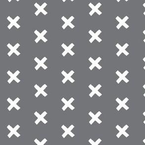 Get crossed! - gravel grey