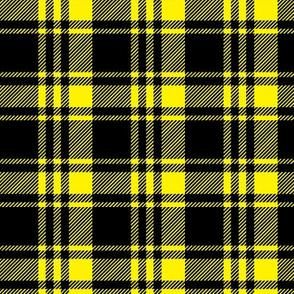 black and yellow fall plaid