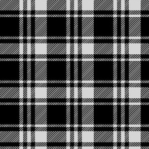 black and fog fall plaid