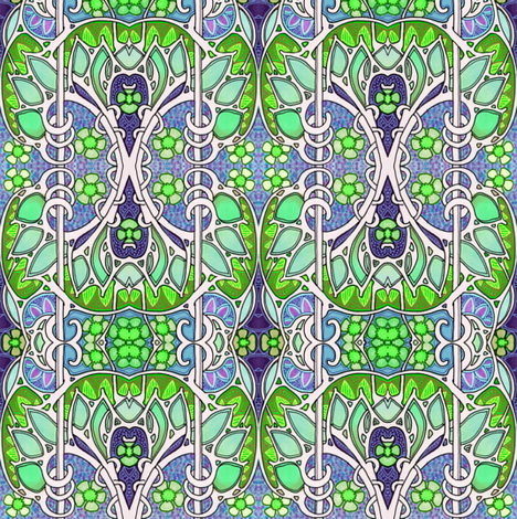 Nouveau Overkill fabric by edsel2084 on Spoonflower - custom fabric