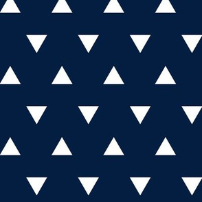 triangles (small scale) - navy || the bear creek collection
