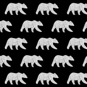 bears (small scale) grey on black