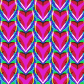 tulips  and hearts